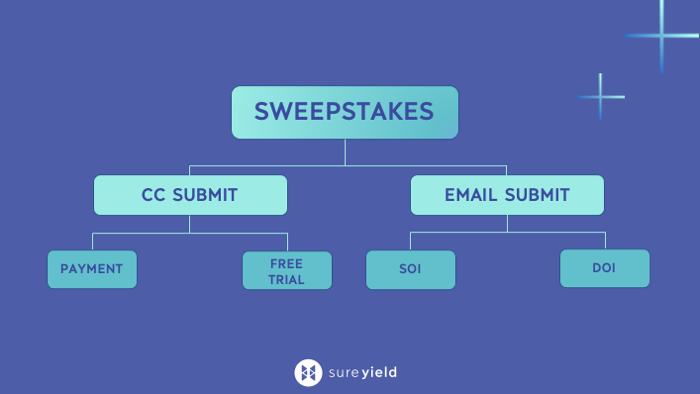 Sweepstakes Disaggregation: CC Submit and Email Submit